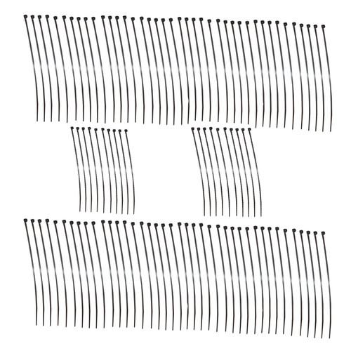 Black Nylon Cable Ties Zip Ties Lock Ties 3.6mm x 200mm 100 Pack