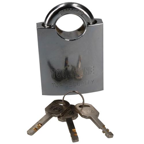 60mm Security Padlock Shed Gate Lock 3 Keys 20mm Shank Brass Core Security
