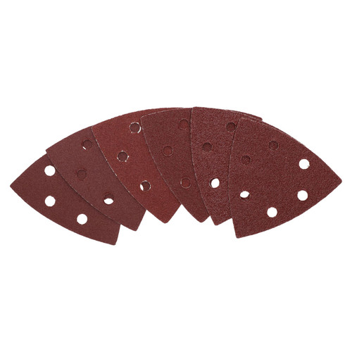 Hook And Loop Delta Sanding Pads Discs 93mm Triangular Mixed Grit 6 Pack