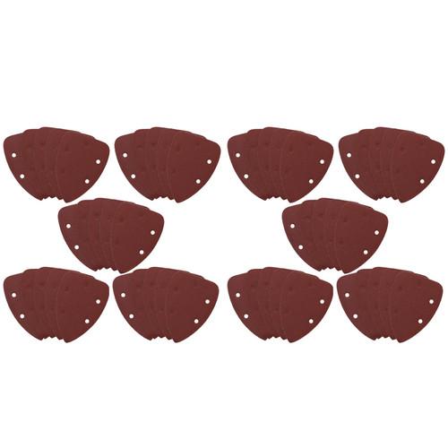 Hook And Loop Detail Sanding Pads Discs 140mm Triangular 60 Grit Coarse 50pc