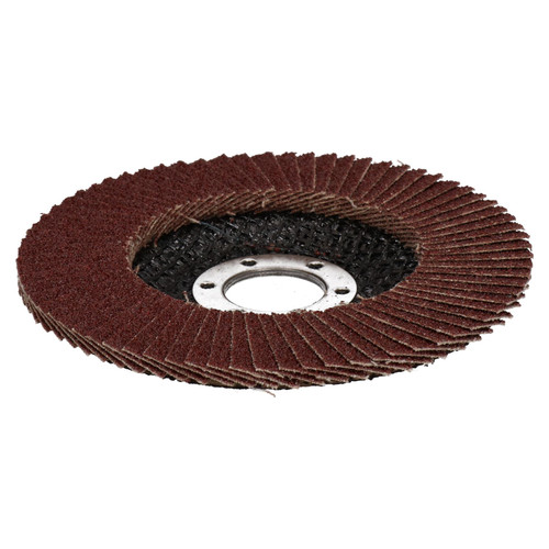 """80 Grit Flap Discs Sanding Grinding Rust Removing For 4-1/2"""" Angle Grinders 5pc"""
