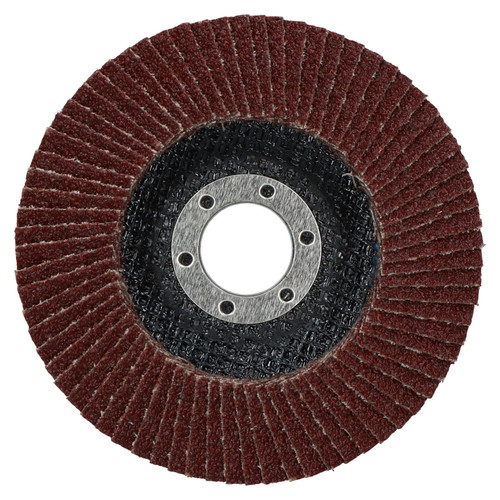 """40 Grit Flap Discs Sanding Grinding Rust Removing For 4-1/2"""" Angle Grinders 5pc"""