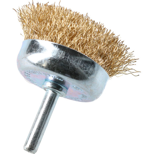 12 Pack 50mm Steel Wire Cup Brush For Drills Brass Coated Rust Paint Remover