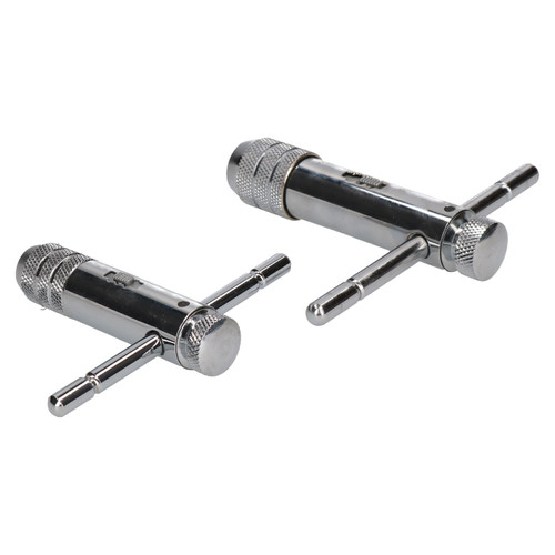Ratchet Reversible Tap Wrenches With T Bar Handle For Taps M3 - M12 2pc