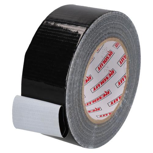2 x Heavy Duty Waterproof Black Duct Tape 50mm Wide x 50 Metres Total Length