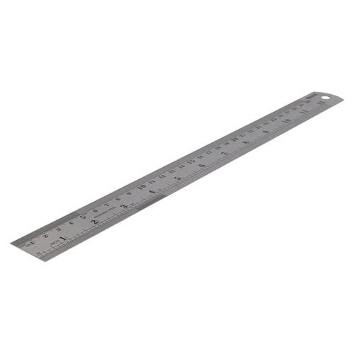"""12"""" + 24"""" 2pc Stainless Steel Ruler Imperial Metric Markings Measuring Measure"""