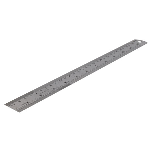 "12"" / 300mm Stainless Steel Ruler Imperial Metric Markings Measuring Measure"