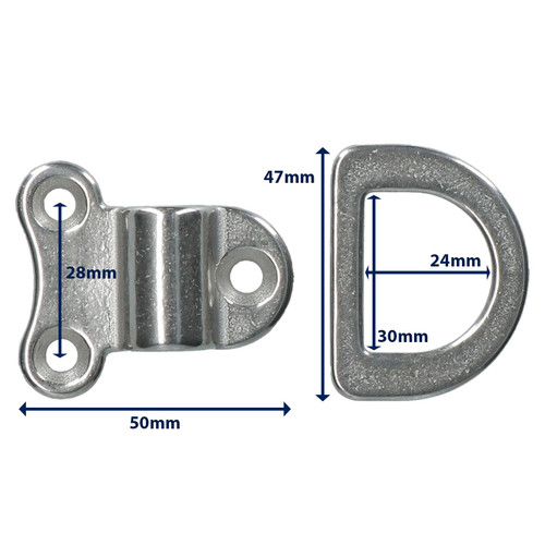 Folding Pad Eye Ring Tie Down Anchor Marine Grade 316 Stainless Steel 4 PACK