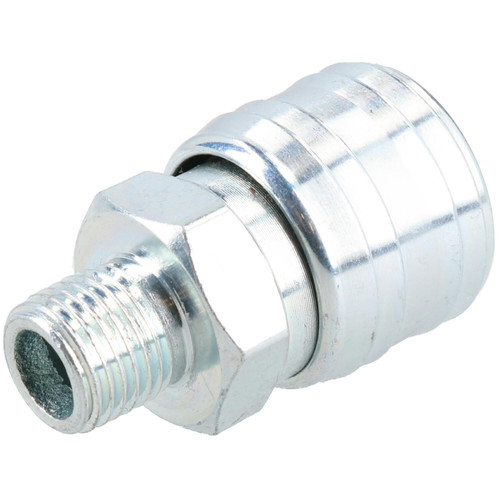 """3pk Air Line Hose Fitting Female Coupler,Male Plugs 1/4"""" BSP Euro Quick Release"""