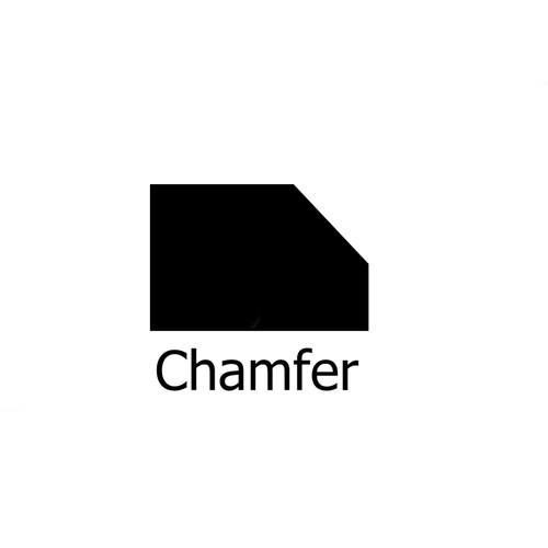 TCT 45 Degree Bearing Guided Chamfer Router Bit 32mm D Cutter 1/4 Shank