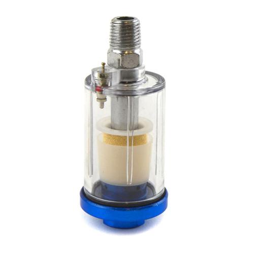 "Mini HVLP Gravity Feed Spray Gun 0.8mm Nozzle 1/4"" BSP In Line Moisture Trap"