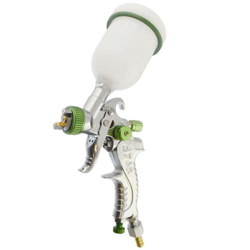 "Mini HVLP Gravity Feed Spray Gun 1mm Nozzle 1/4"" BSP In Line Moisture Trap"