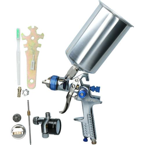 """HVLP Gravity Feed Spray Gun 1.4mm & 2.0mm, 1/4"""" BSP In Line Moisture Trap"""