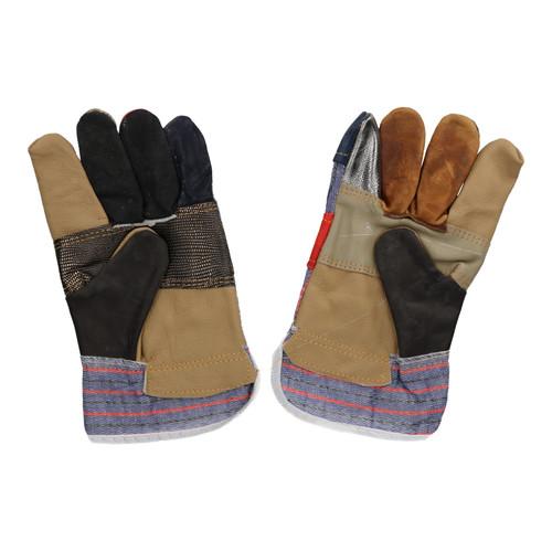 """2 Pairs 10"""" Large Rainbow Hide Furniture Gloves Work Wear Safety Gardening"""
