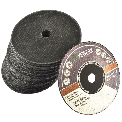 "3"" Cutting Grinding Discs for Air Cut-off Tool Grinder Cutoff 25 PACK 75mm AT823"