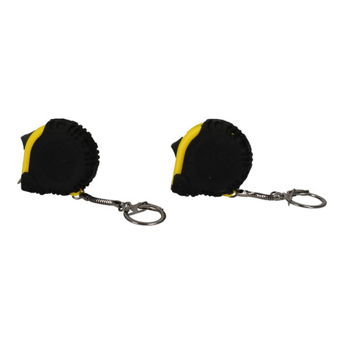 2 x 1 Metre Key Ring Tape Measures Measuring Metric Imperial Measurements