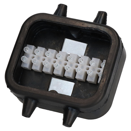 Trailer Lighting Electrics Rubber Junction Box 8 Way Waterproof PMG UK Made