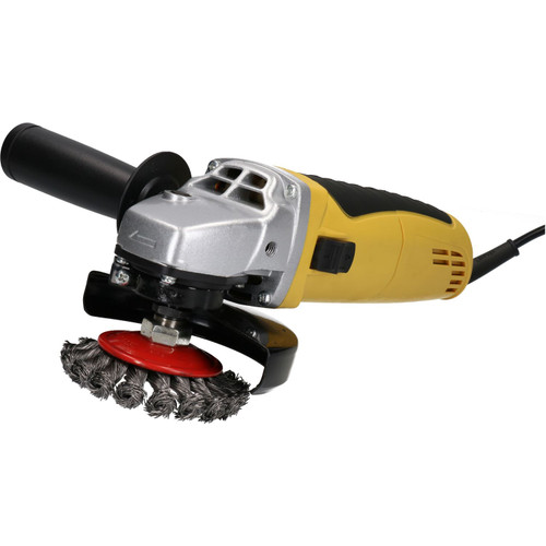 "4 1/2"" (115mm) Angle Grinder with 4 Pack of Grinding Wheels / Cups"