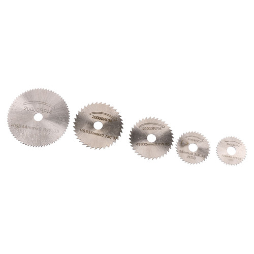 HSS Mini Circular Saw Discs Cutters Cutting Tools Rotary Blades 6pc 22 – 44mm