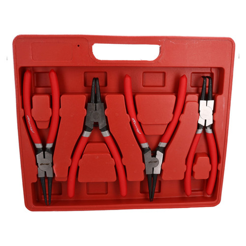 "9"" / 225mm Circlip Pliers Circlips Internal External Bent Straight Plier 4pc Set"