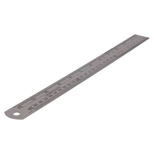 "12"" Stainless Steel Measuring Ruler Metric Imperial Measurements Measure Rule"