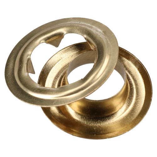 50pc Steel Brass Coated Grommet Tarpaulin Eyelets Awning Groundsheet Cover