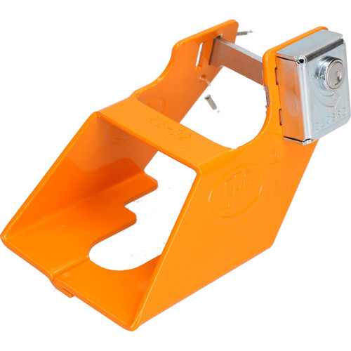 Trailer Caravan Hitch Coupling Lock High Vis Orange Security Towing