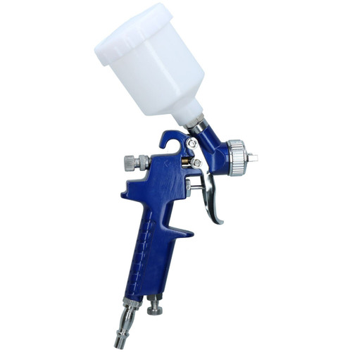 Mini HVLP Gravity Fed Touch Up Paint Spray Gun With 1.0mm Nozzle 125ml Pot