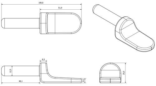 2xPin & Eyelet Strap Hinge Trailer Truck Tailboard Tailgate Antiluce Drop Catch