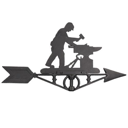 Blacksmith Weather Vane Vain Ridge Mount House Roof Cast Iron Workshop Anvil