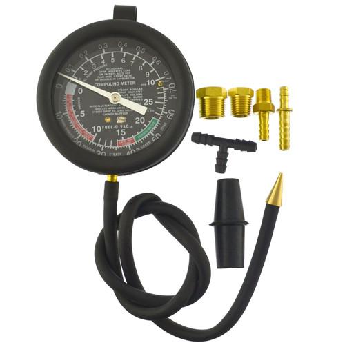 Fuel Vacuum And Fuel Pump Pressure Tester Gauge Kit Carburettor Valve  AN023