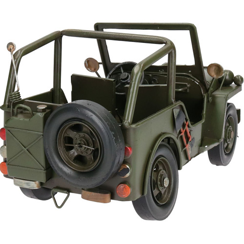 Army Military Jeep / Truck 4x4 Willys Style Metal Model Replica Ornament Utility