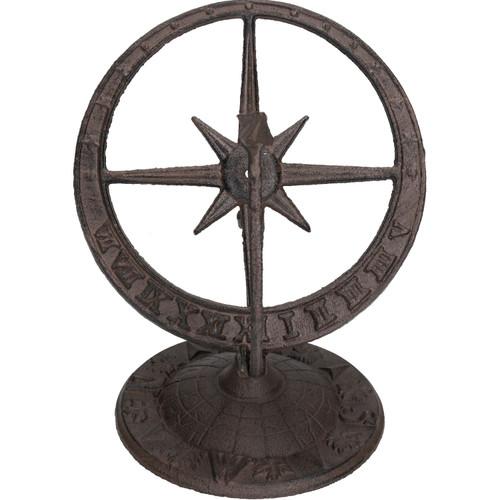Armillary Sundial Ornament Cast Iron Garden Feature Statue Clock Metal Compass