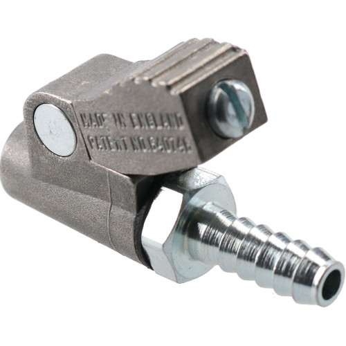 PCL Clip On Tyre Valve Air Inflator Connector Closed End 6.35mm Hose Tail CO2J03