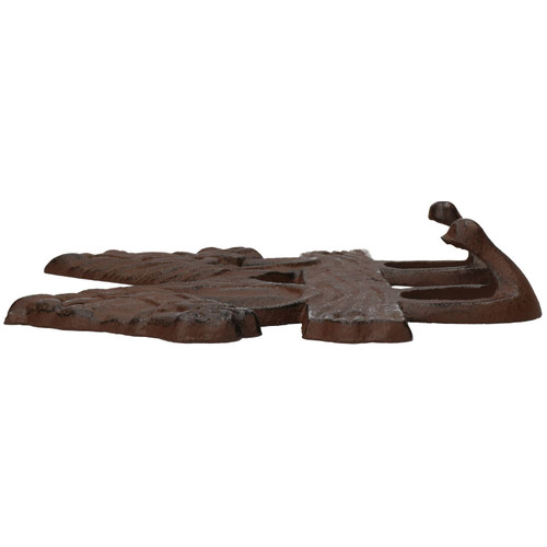 Cast Iron Rustic Two Horse Coat Hook Home Garden Stables 3x15x20.5cm