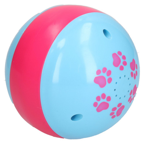 "4.5"" Pink & Blue Dog Treat Ball Dispenser Interactive Slow Feed Puppy Toy"