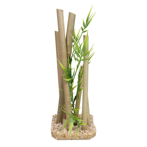 2 Aquatic Aquarium Decor Bamboo Stick Medium Fish Tank Ornaments 9x11x25cm