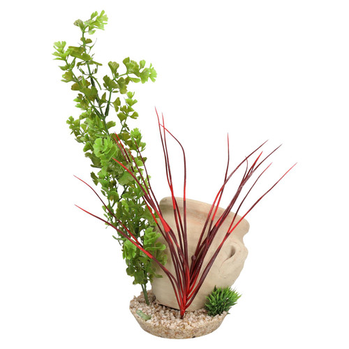 Aquatic Aquarium Fish Tank Decor Roman Jar Plant Air Diffuser Large 36cm