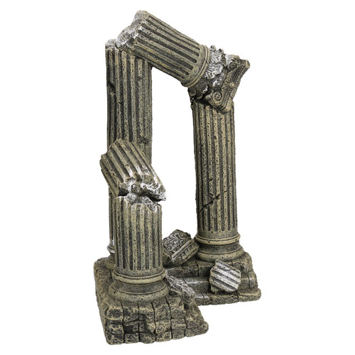 Aquatic Aquarium Giant Column Ruins Fish Tank Ornament 17x16x28cm