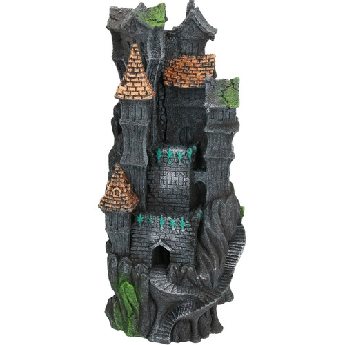 Aquatic Aquarium Darkness Falls Tower Fish Tank Ornament 14x14x30cm