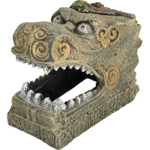 Aquatic Aquarium Decor Serpent Head Tomb Fish Tank Ornament 14x10x12cm