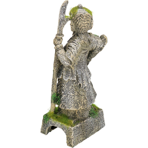 Aquatic Aquarium Decor Moss Covered Thai Warrior Fish Tank Ornament 9x7x22