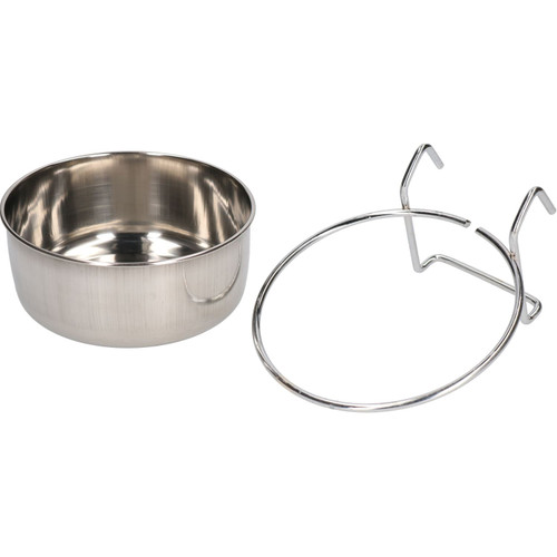 600ML Stainless Steel Small Animals, Dogs, Birds Coop Cup With Hook Holder