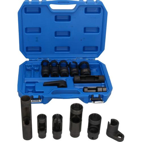 "14pc Diesel Injector Lambda Oxygen Sensor Sockets Remover Installer 1/2"" Drive"