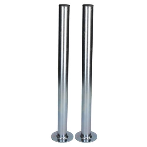 2 PACK 34mm Prop Drop Stand 460mm Long for Trailer Jockey Leg & Clamp