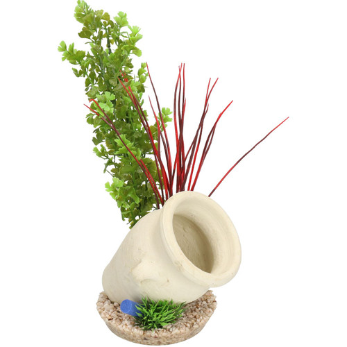 Aquatic Aquarium Fish Tank Decor Roman Jar Plant Air Diffuser Medium