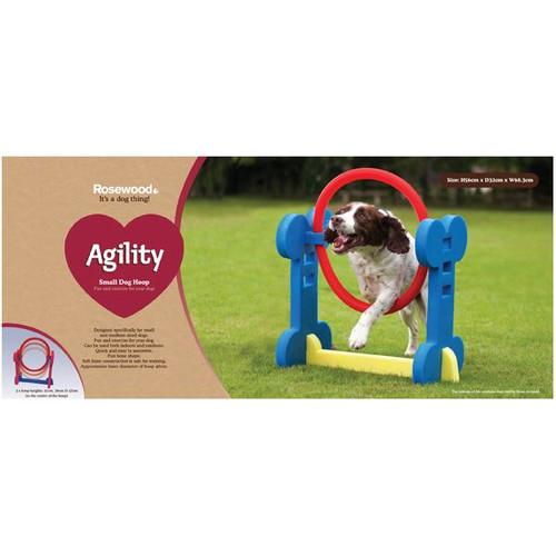 Small Dog Soft Rigid Foam Easy Assemble Agility Hoop Fun Exercise 32x56x68.3cm