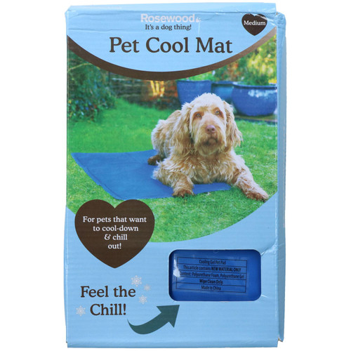 Medium Pet Chillax Pet Cooling Gel Mat Dog Cat Heat Relief Pad 50x65cm