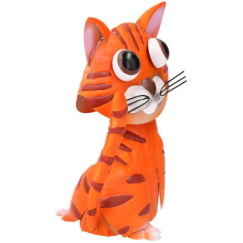 Gerry The Ginger Cat Bobble Buddie Metal Sculpture Indoor/Outdoor Ornament