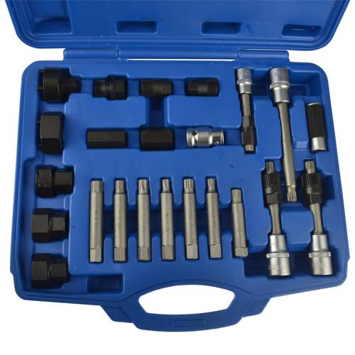 24pc Alternator Puller Pulley Profile Adaptor Tool Set Kit BERGEN AT945